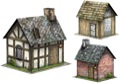 Rustic Cabins Set #1 28mm/30mm Paper Models PDF