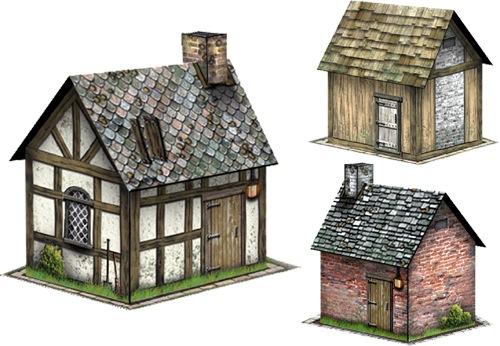paizo com - Rustic Cabins Set #1 28mm/30mm Paper Models PDF