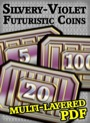 Futuristic Coins Silvery-Violet Set PDF