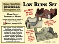 Low Ruins Set 28mm/30mm Paper Models PDF