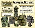 Maritime Buildings Bundle 28mm/30mm Paper Models PDF