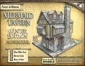Mermaid Tavern Winter Edition Paper Model PDF