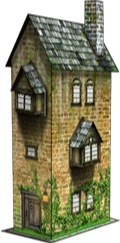 Narrow House 28mm/30mm Paper Model PDF