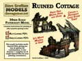 Ruined Cottage 28mm/30mm Paper Model PDF