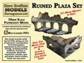 Ruined Plaza Set 28mm/30mm Paper Models PDF