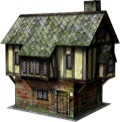Tudor House 28mm/30mm Paper Model PDF