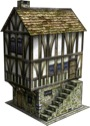 Tudor Restaurant 28mm/30mm Paper Model PDF