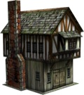 Tudor Shop 28mm/30mm Paper Model PDF