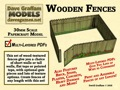 Wooden Fences 28mm/30mm Paper Models PDF