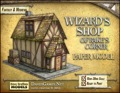 Wizard's Shop of Rake's Corner Paper Model PDF