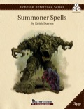 Echelon Reference Series: Summoner Spells (3pp+PRD PDF
