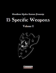 15 Specific Weapons (PFRPG) PDF