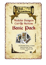 Inked Adventures: Modular Dungeon Cut-Up Sections Basic Pack PDF