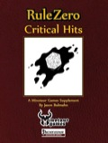 Rule Zero: Critical Hits (PFRPG) PDF