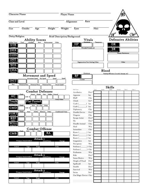 paizo.com - Character Sheet Pack (PFRPG) PDF
