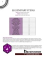 Legendary III: Legendary Items (PFRPG) PDF