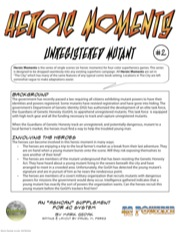 Heroic Moments—Vol. 1, Issue #2: Unregistered Mutant (4C) PDF