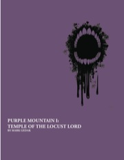 Purple Mountain I: Temple of the Locust Lord (PFRPG) PDF
