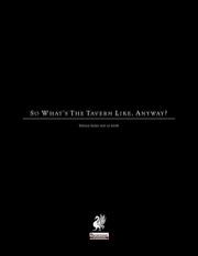 So What's The Tavern Like, Anyway? (PFRPG) PDF