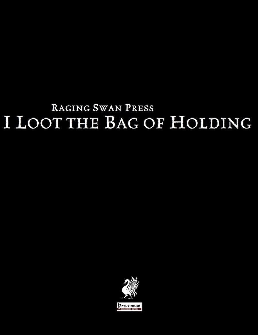 paizo i loot the bag of holding pfrpg pdf