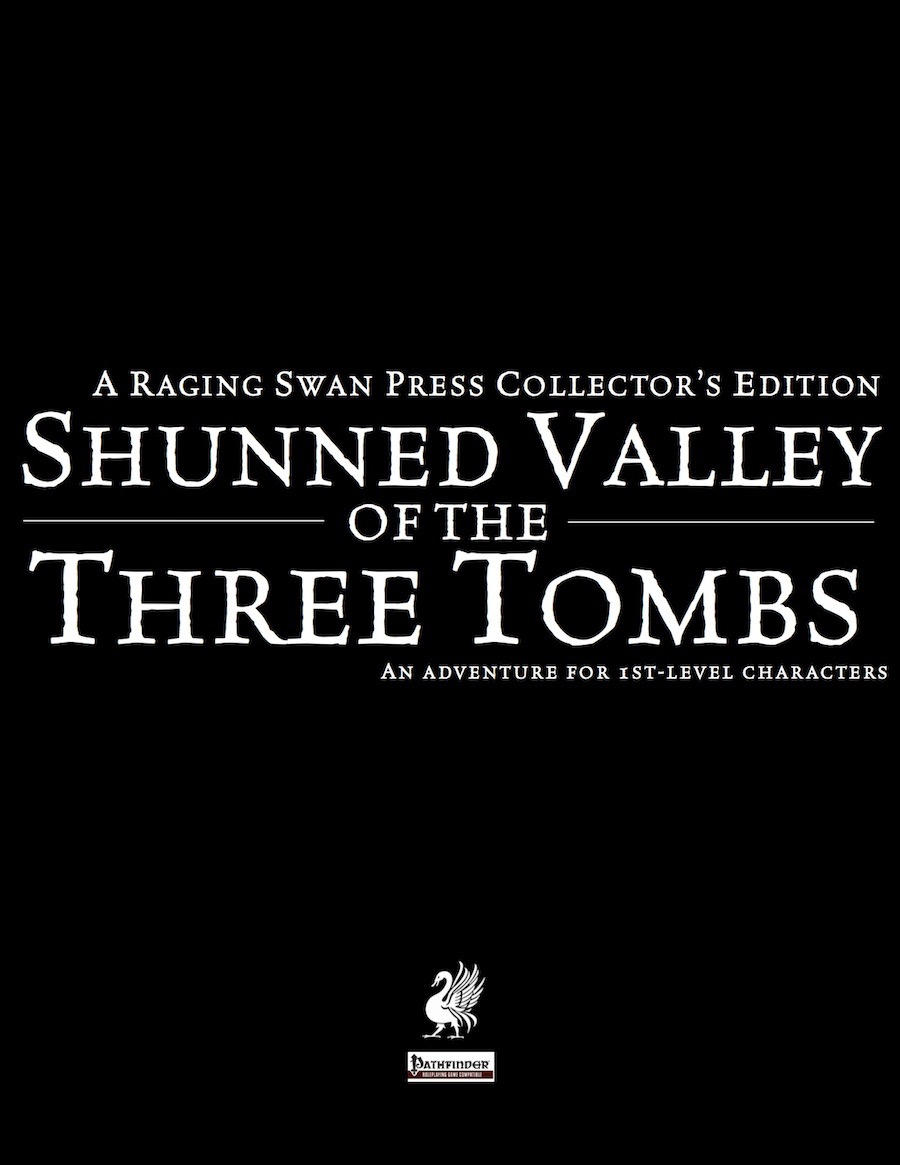 Cover of Shunned Valley of the Three Tombs