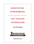 Secrets of the Synod Horrenda: Naat, Realm of Necromancers (PFRPG) PDF