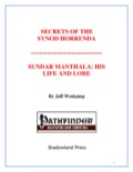 Secrets of the Synod Horrenda—Sundar Manthala: His Life and Lore (PFRPG) PDF