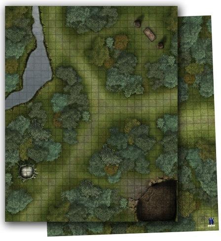 Paizo Com Gamemastery Flip Mat Woodlands