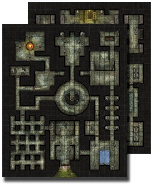 Paizo Com Gamemastery Flip Mat Dungeon