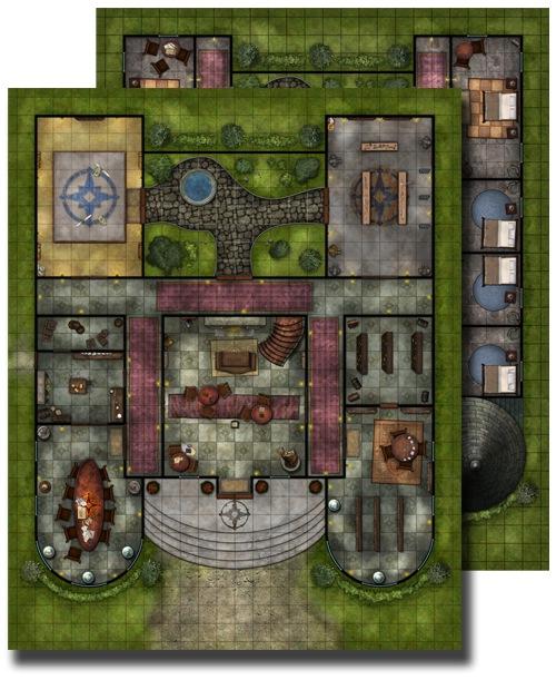 Paizo Com Gamemastery Flip Mat Pathfinder Lodge
