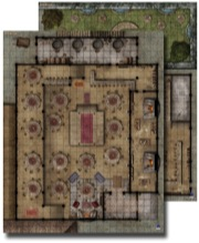 GameMastery Flip-Mat: Urban Tavern