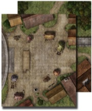 Flip Mat Town Square -  Paizo Publishing