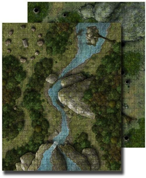 Paizo Com Gamemastery Flip Mat Deep Forest