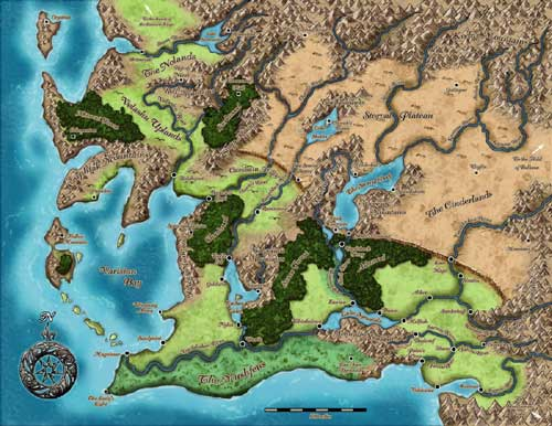 The map of Varisia!